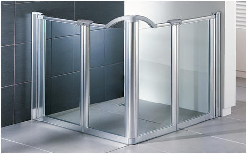 Evolution half height shower doors by EASA