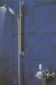Aqualisa Aquatique exposed shower valve with adjustable riser kit finished in chrome colour