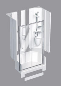 Leak free shower pods