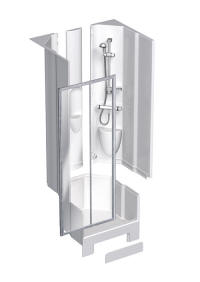 Coram 900 alcove shower pod diagram
