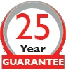 25 year manufacturer warranty