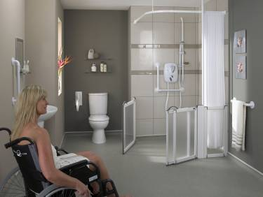 Disabled showers and wet rooms