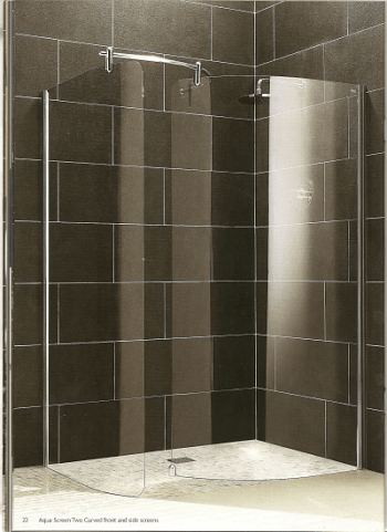 Wet room shower screens