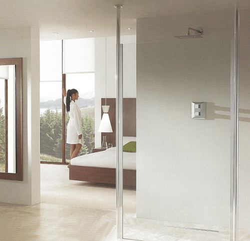 Walk through shower - the Aquascreen Clear