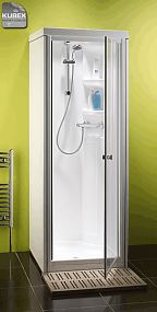 Kubex Kingston Compact one piece shower cubicle with pivot door
