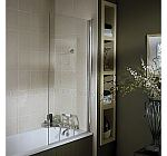 Mira ACE square glass bath screen