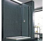 Glass shower and room divider panel