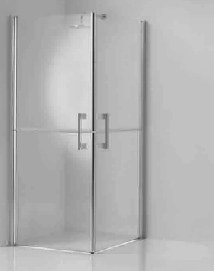Novellini FREE FRESCO Corner entry corner shower enclosure with twin stable style doors