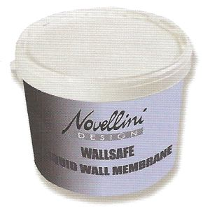 Wallsafe liquid wall tanking membrane for showers by Novellini