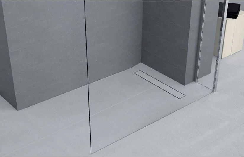 DUO DECK wet room shower floor former with linear drain